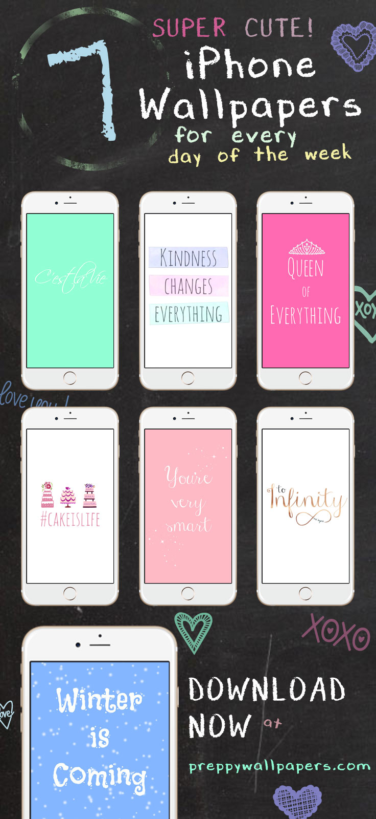 Motivational Quotes Wallpapers Hd For Mobile 7 Super Cute Iphone Wallpapers For Every Day Of The Week