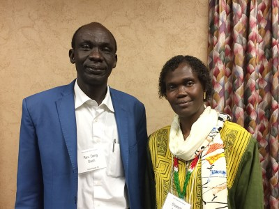 The Rev. Deng Gach and Elizabeth Aluk Andrea, speakers at the 2016 Presbyterian Sudan/South Sudan Mission Network gathering in Louisville. (Photo by Gregg Brekke)