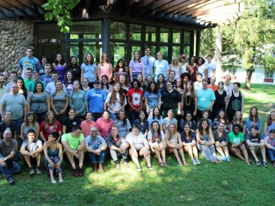 The 2016 Young Adult Volunteers and support staff at Stony Point Conference Center, New York. (Photo courtesy Bridgette Lewis)