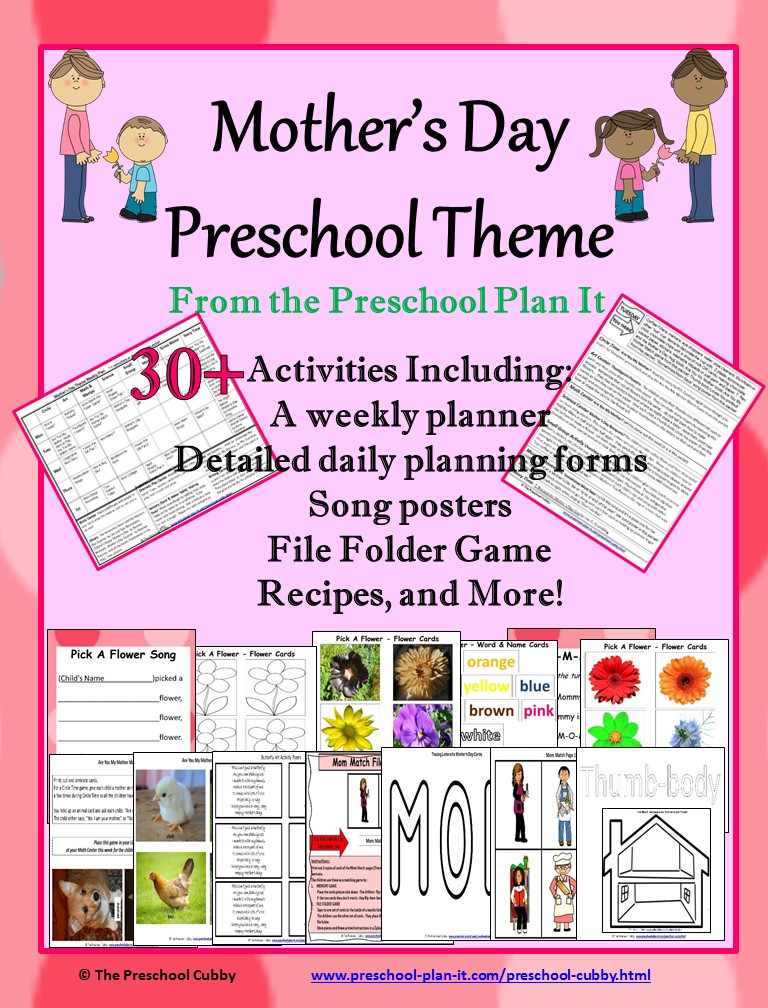 Mothers Day Preschool Theme - preschool lesson plan
