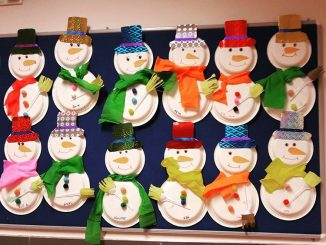 Cute Paper Plate Snowman ... & Snowman Paper Plate Craft - Castrophotos