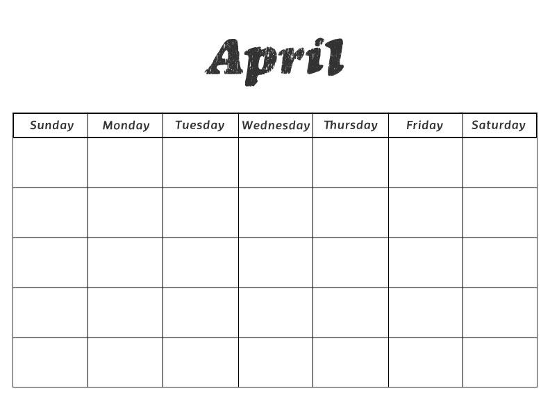 Printable Preschool Calendars - preschool calendar template