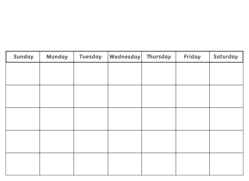 Printable Preschool Calendars - Printable Blank Calendar