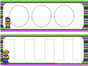 Trace The Dotted Lines Worksheets For Kids Preschool And