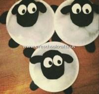 lamb-craft-from-paper-plate - Preschool Crafts