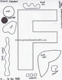 letter f template is for fish - Preschool Crafts