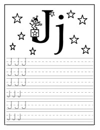 Letter J Worksheet for Kindergarten Preschool and 1'st ...