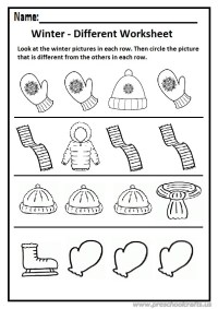 Different Winter Worksheets For Preschool. Different. Best