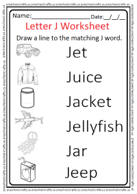 Letter J Worksheets - Kidz Activities