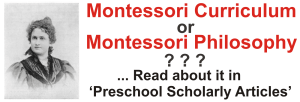 Montessori Curriculum Montessori Philosophy