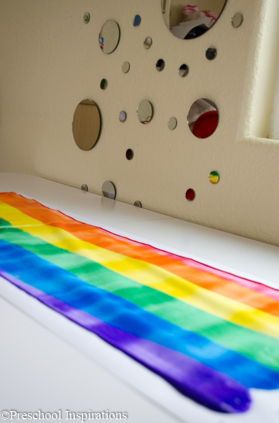 Rainbow Rolling Pin Art