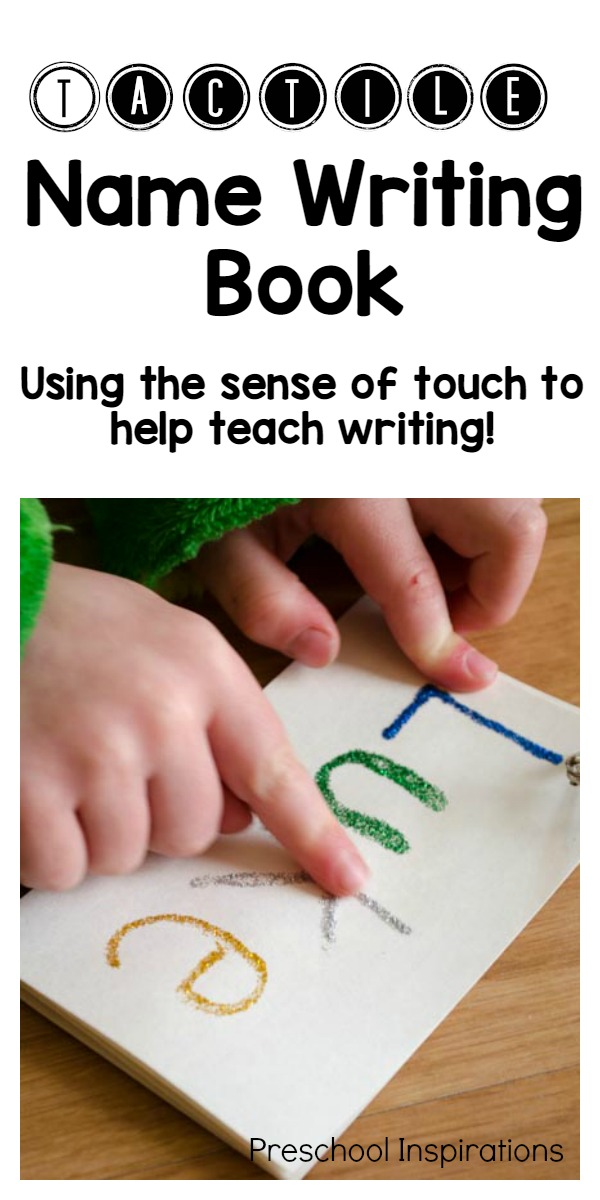 Make a sensory name book to help children learn to write with their sense of touch! This tactile name writing book is the perfect way to teach a child to learn to write his or her name.