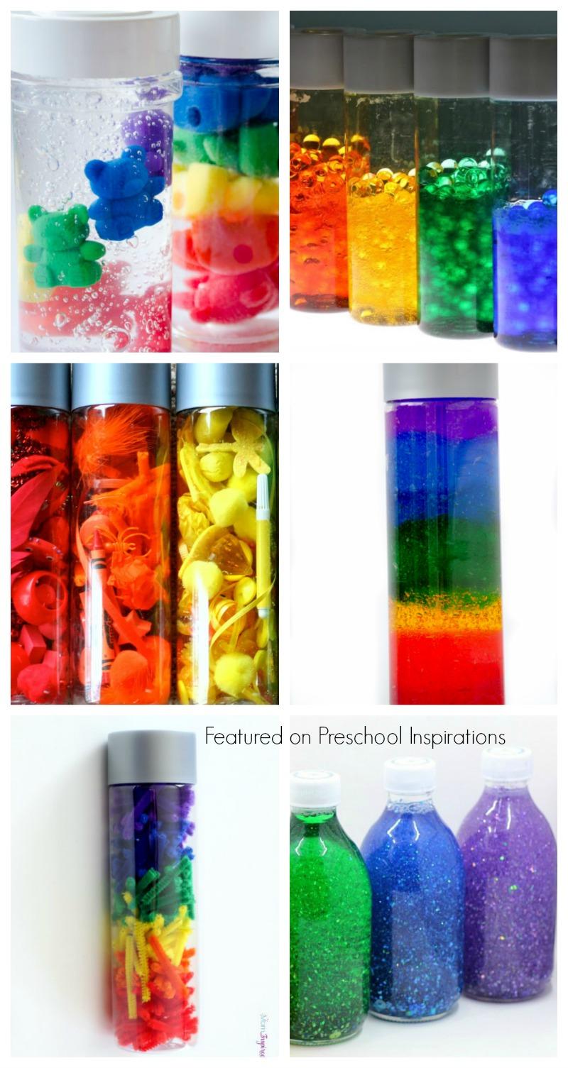 Amazing Sensory and Rainbow Discovery Bottles