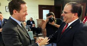 David Bernier, presidente del Partido Popular Democrático (PPD), junto al presidente de la Cámara de Representantes, Jaime Perelló. (Foto/Suministrada)
