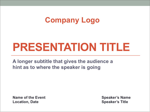 Presentation Title Slides and Powerful Openings Presentation Guru - title picture