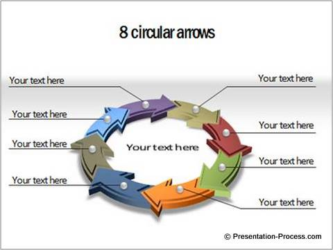 How To Get A Perfect Circular Arrow Diagram in PowerPoint - smartart powerpoint template