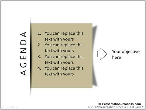 PowerPoint Effect to Create Sticky Note - how to write an agenda template