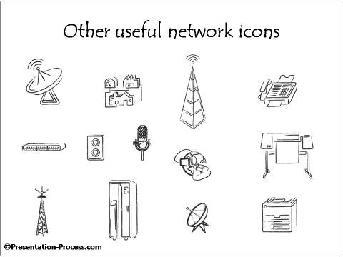 powerpoint network diagram icons