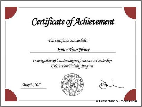 Create Printable Certificates in PowerPoint in a Jiffy - Blank Award Templates