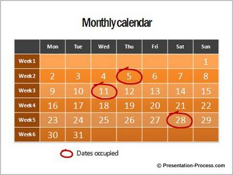 Ways To Make Your Timelines Memorable Sample Power Point Calendar