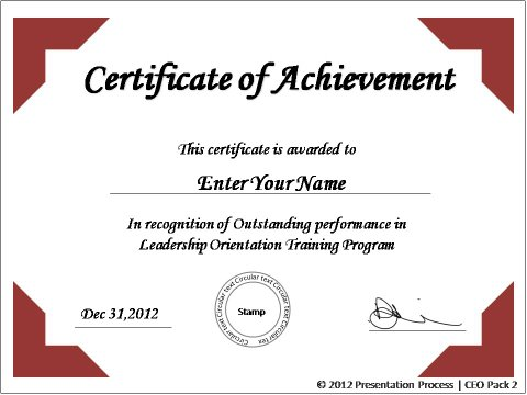 Certificate Of Appreciation Template Powerpoint Powerpoint
