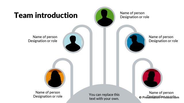 Flat Design Templates PowerPoint Org Chart