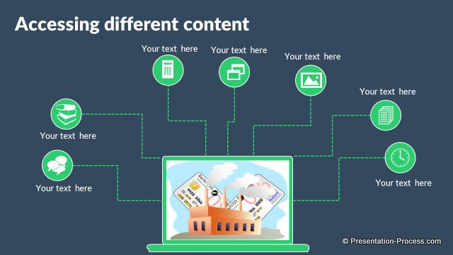 Flat Design Templates for PowerPoint Technology