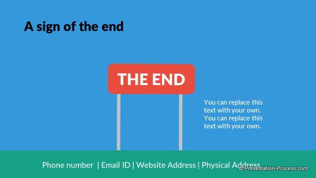 Flat Design Templates PowerPoint Closing Slides