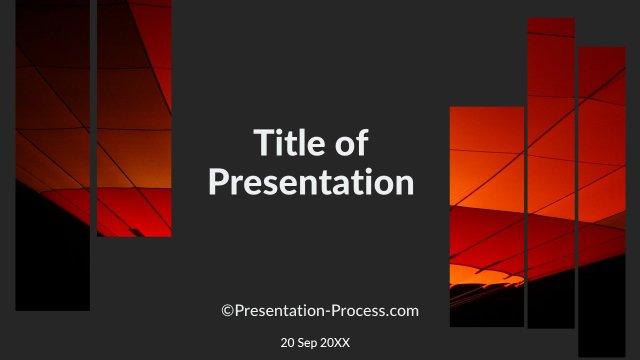 Flat Design Templates PowerPoint Title Slide