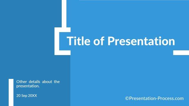 Flat Design Templates PowerPoint Title Slide