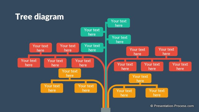 Flat Design Templates PowerPoint Tree
