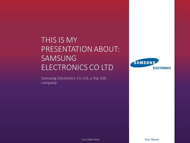 Free PowerPoint Templates about Samsung - PresentationGo