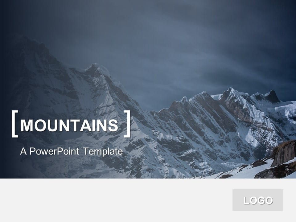 PowerPoint Template Mountains - PresentationGO