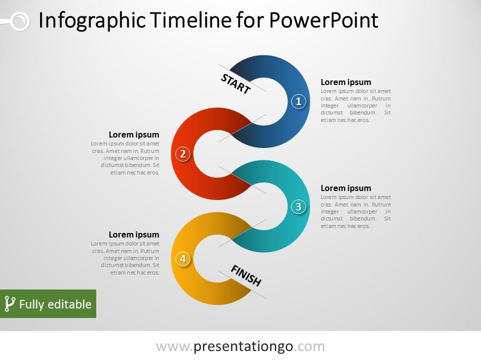 Vertical Timeline Infographic for PowerPoint - powerpoint timeline