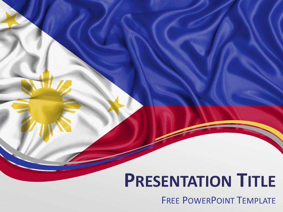 Matrix 3d Wallpaper Free Download Philippines Flag Powerpoint Template Presentationgo Com