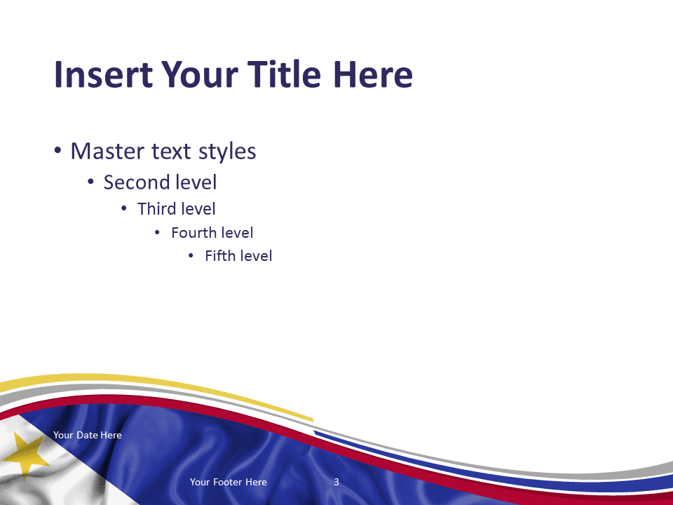 3d Curved Wallpaper Philippines Flag Powerpoint Template Presentationgo Com