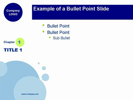 Blue Bubbles PowerPoint Template - bubbles power point