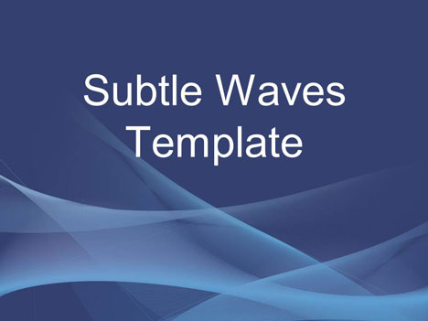 Subtle Waves Business Template - template