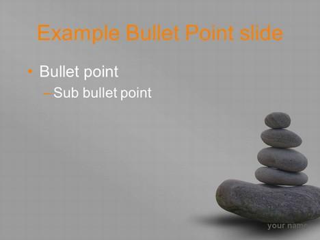 Zen stones template \u2013 grey background