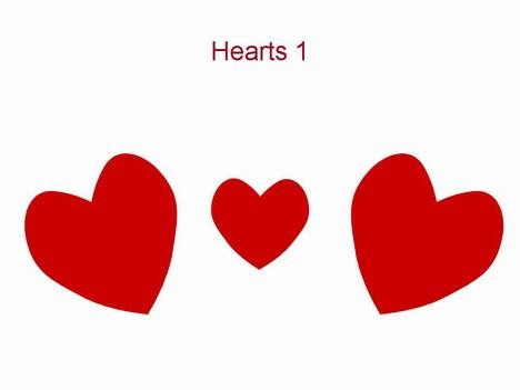 Hearts 1 Valentine\u0027s Template