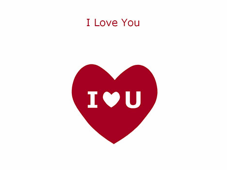 I love you Heart template - love templates
