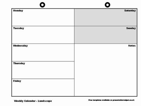 Weekly Calendar Template - Calendar Template
