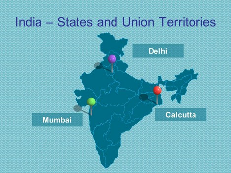 PowerPoint map of India including States - interactive us maps for powerpoint