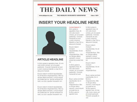 Editable Newspaper Template \u2013 Portrait