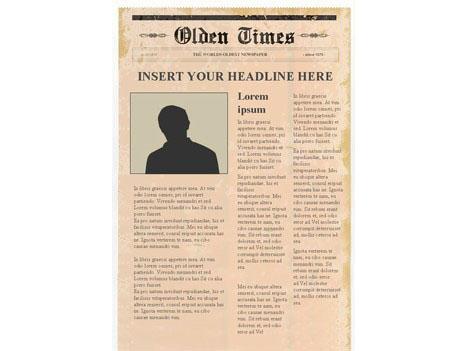 Editable Newspaper Template u2013 Portrait - newspaper headline template