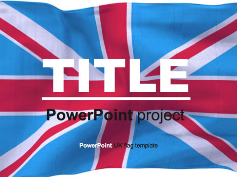 British flag PowerPoint template - free slide backgrounds for powerpoint