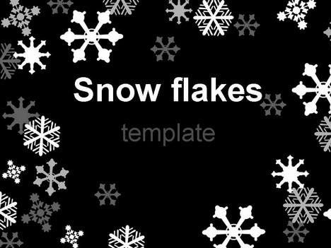 Snowflake Template on Black