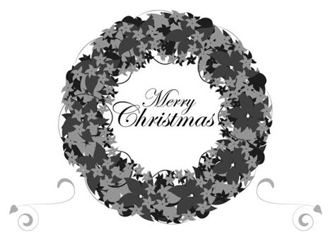 Black and White Christmas Card - christmas cards black and white