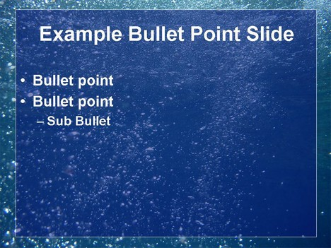 Water bubbles template - bubbles power point