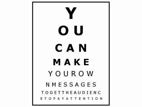 Opticianu0027s charts - eye chart template
